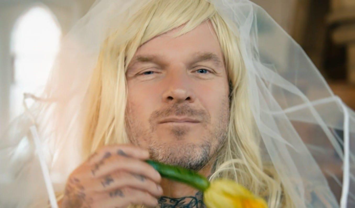 Dirty Vegan's daredevil turned vegan chef Mathew Pritchard In Bridal Box